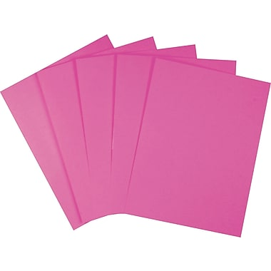 Staples Brights 24 lb. Colored Paper, Fuchsia, 500/Ream (20109)