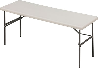 Iceberg 6' Utility-Grade Resin Folding Banquet Table, Platinum Granite, 24
