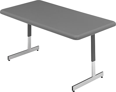ICEBERG 24''Lx48''D Rectangular Utility Table, Charcoal (65737)