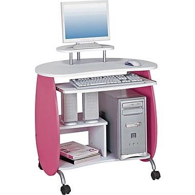 Techni Mobili RTA-Q203 Children's Computer Desk, Pink/White