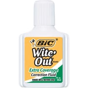 BIC® Wite-Out® Brand Extra Coverage Correction Fluid, White, Each