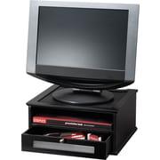 """Victor Midnight Black™ Wood Monitor Riser, 6 1/2""""H x 13""""W x 13""""D"""