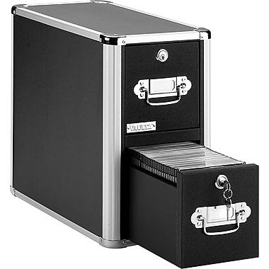 Vaultz® 330 Disc Locking CD Cabinet, Black