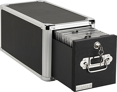Vaultz® 165 Disc Locking CD Cabinet, Black