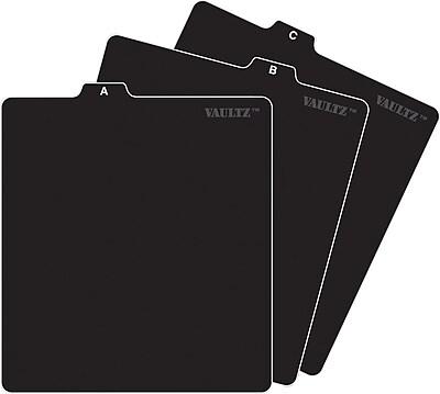 Vaultz® A-Z CD File Folder Guide Tabs, Black