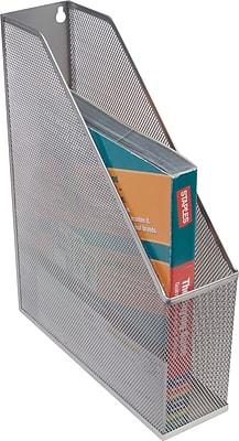 Staples® Silver Wire Mesh Magazine File, 12 1/4