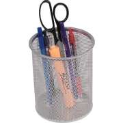 Staples Jumbo Pencil Cup, Silver Wire Mesh (11966)