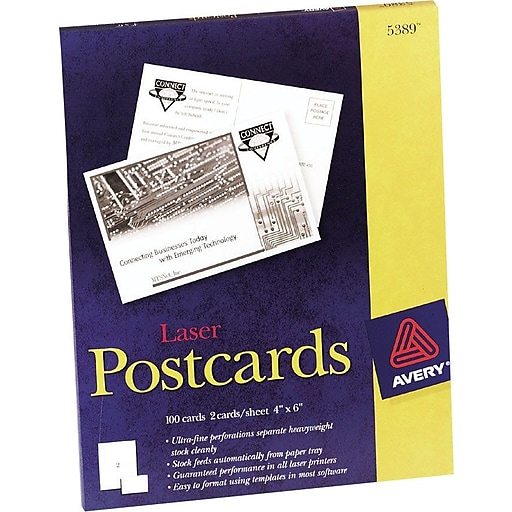 Avery laser postcards 4 x 6 uncoated 100box 5389 staples httpsstaples 3ps7is reheart Choice Image
