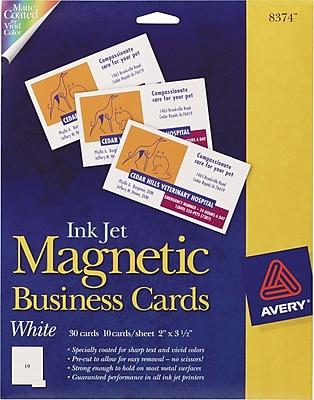 Avery Inkjet Magnetic Business Cards Staples