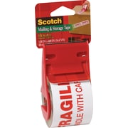 """Scotch® Mailing and Storage Tape, """"Fragile Handle with Care"""""""