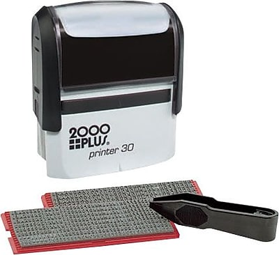 2000Plus® One-Color Self-Inking Stamp Kit, 5-Line, 1-7/8 x 3/4