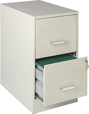 Office Designs 2 Drawer Vertical File Cabinet, Stone, Letter, 22