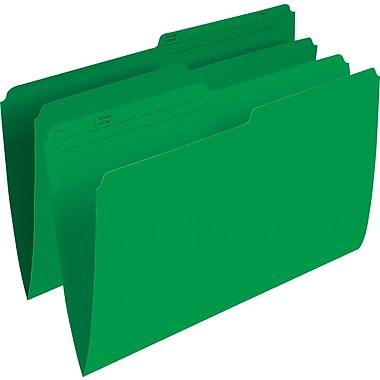 Staples® – Chemises de classement de couleur, format légal, 8 1/2 po x 14 po, vert, paq./100