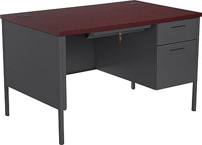 HON Metro Classic Small Office Desk, 1 Box/1 File Drawer, 48