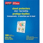 Staples® Standard Clear Sheet Protectors, 100-Pack