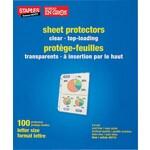 Staples® – Protège feuilles transparents standard, paq./100