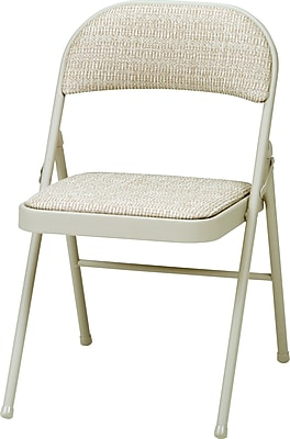 Sudden Comfort™ Folding Chairs, Tan, 4/Pack