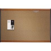 Quartet® - Tableau d'affichage Prestige en liège, couleur, cadre au fini cerisier clair, 48 x 36 po