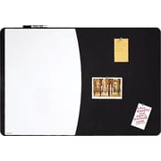 "Quartet® Designer™ Tack & Write® Cubicle Combination Board, 35"" x 23 1/2"", Black Frame (06545BK)"