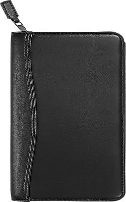 Day-Timer® Avalon Leatherlike Starter Set, Zip Closure, Black, Portable Size