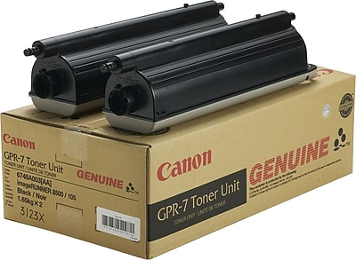 Canon Toner Cartridge, GPR-7 (6748A003), Black, 2/Pack
