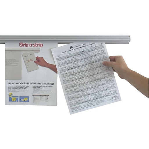 Advantus 24 grip a strip display rail staples httpsstaples 3ps7is malvernweather Image collections
