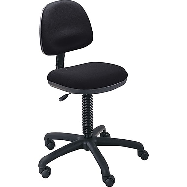Safco 30% Polyester/70% Olefin Precision Desk Height Swivel Chair, Black