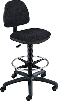 Safco® Precision Extended Height Drafting Swivel Stool, Fabric, Black