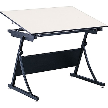 Safco PlanMaster 60''Lx37.5''D Rectangular Drafting Table, Cream