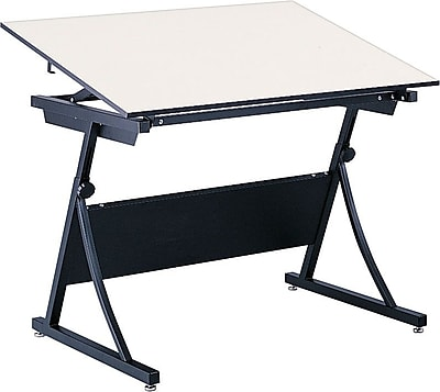 Safco PlanMaster 43''Lx33''D Rectangular Drafting Table, Cream