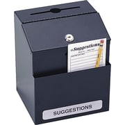 Safco® Steel Suggestion Box, Black