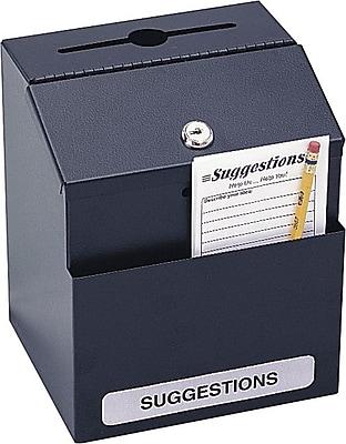 Safco® Steel Suggestion Box, Black