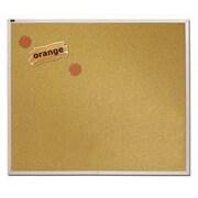 Quartet® Natural Cork Bulletin Board, Silver Aluminum Frame, 8'W x 4'H