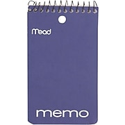 """Mead Wirebound Memo Book, 5"""" x 3"""", College Ruled, 60 Sheets/Book"""