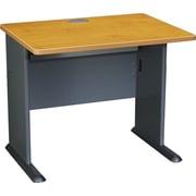 "Bush Cubix 36"" Desk, Natural Cherry and Slate Gray"