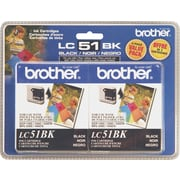 Brother Ink Cartridges Black 2/Pack (LC-51BK2PK)