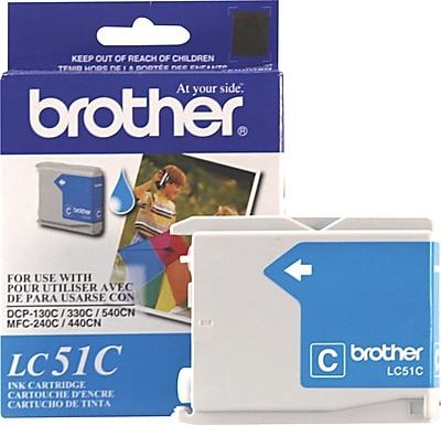 Brother Genuine LC51C Cyan Original Ink Cartridge