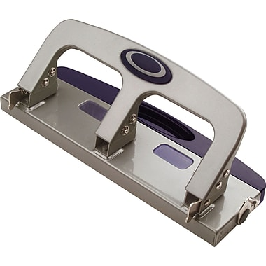OIC® Deluxe 3-Hole Punch With Chip Drawer, 20 Sheet Capacity
