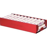 "MMF Industries™ Aluminum Rolled Coin Storage Trays, $10 Pennies, Red, 1 1/2""H x 8""W x 3 1/2""D"