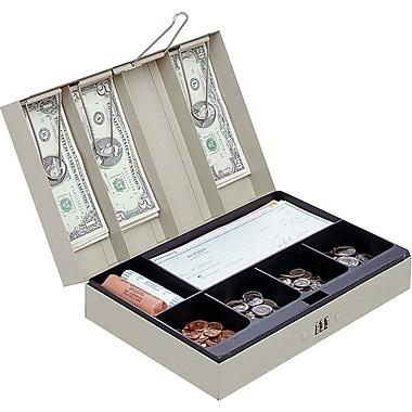 MMF Industries™ STEELMASTER® Cash Box with Combination Lock, Sand, 3 1/8