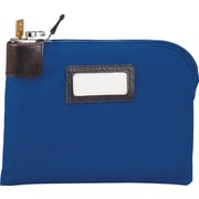 "MMF Industries™ Locking Night Deposit Bag, Navy Blue, Laminated Nylon, 8 1/2""H x 11""W"