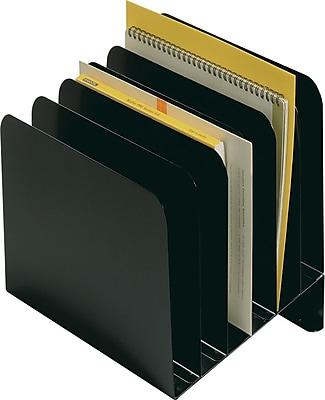 SteelMaster® Incline Vertical Organizer, 6-Compartment, Black