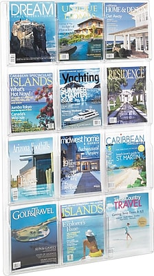 Safco® Reveal™ Plastic 12 Magazine Display, Clear (5602CL)