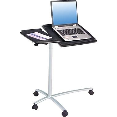 TechniMobiliMD – Bureau à roulettes réglable pour ordinateur portatif, graphite