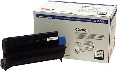 OKI® 42126661 Image Drum with Toner Cartridge for C3200N Printer, Black