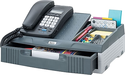 Safco Phone Organizer Stand Charcoal 4 38 H x 14 34 W x 10