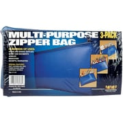 """MMF Industries™ Leatherette Zipper Wallets in Retail Packaging, Blue, 6""""H x 11""""H"""