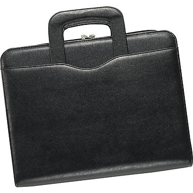 Day-Timer® Avalon Leatherlike Attache Starter Set, Zip Closure, Black, Folio Size