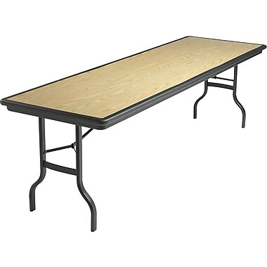Iceberg 8' Indestruc-Tables™ Folding Table, Light Oak