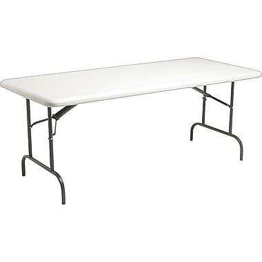 Iceberg 8' Heavy-Duty Commercial Resin Folding Banquet Table, Platinum Granite